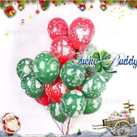Balon latex natal - balon merry christmas - balon dekorasi xmas natal