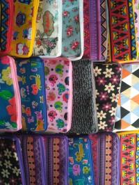 Tas lipat dompet kanvas furing spunbond souvenir ulang tahun belanja