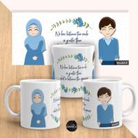 MUG / GELAS KACA COUPLE (CP01) - islami , muslim muslimah hijab
