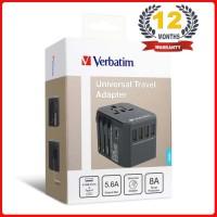 Verbatim Travel Adaptor 4 usb port + 1 Type C 65686