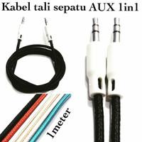 Kabel Audio Aux stereo 3.5mm model Tali Sepatu / Kabel Audio Male male
