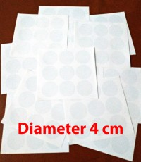 Stiker Vinyl Bulat 4cm Transparant Polos Sticker Bundar diameter 4 cm