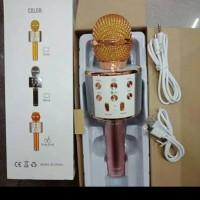 Microphone Wireless Wster WS858, Speaker Karaoke Ws 858 Bluetooth -