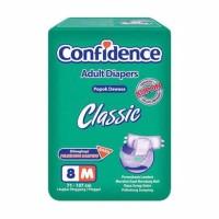 Popok dewasa confidence classic M8, L7 popok perekat
