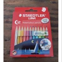 Pensil Warna Watercolour Staedtler Luna 12 Warna Pendek