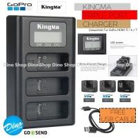 KingMa Charger GoPro HERO 5 / 6 / 7 Action Cam Triple Port Desktop