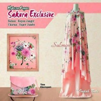 Mukena Bali jumbo / mukena katun adem / premium sakura exclusive