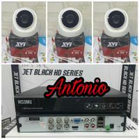 PAKET CCTV 4 CHANNEL HISOMU 3 KAMERA XVI 4MP + 320GB