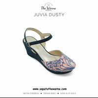 Wedges Unik Etnik Motif Tradisional Batik Cirebon Juvia Dusty