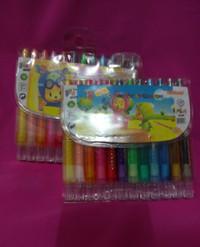 crayon putar kodai 12 warna pendek pastel mewarnai bukan titi kenko