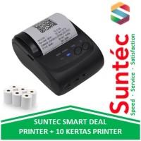 Suntec Deal Zjiang Mini Bluetooth Printer + 10 Kertas Thermal POS