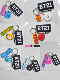 gantungan kunci keychin kpop bt21 karakter bangtan boys bts
