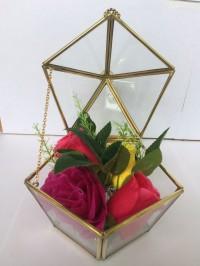 kotak kaca perhiasan / ringbox mahar / wedding gift