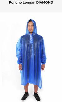 Jas Hujan Poncho Lengan Diamond Transparan 705 Plevia Raincoat Murah