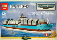 Lego Creator 10241 Maersk Line Triple E 1518 Pc-Lepin 22002 Jumbo Ship