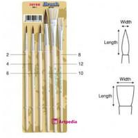Joyko Brush Set 6 BR-1 / Kuas Lukis Set 6 / Kuas Cat Air Joyko Set 6
