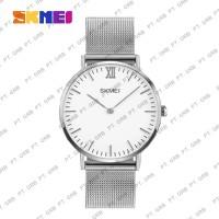 Jam Tangan Pria Analog SKMEI 1181 Silver Water Resistant 30M