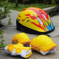 Helm sepeda anak / skuter / Sepatu Roda dan deker pelindung
