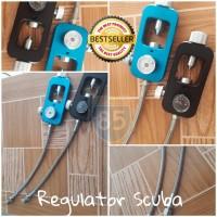 Regulator Tabung Scuba Import + Kupler Betina Selang Stainless Kuat