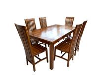 FREE ONGKIR !! meja makan jati 6 kursi minimalis READY STOCK !!