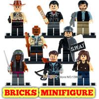 Lego Minifigure Walking Dead Army Police Zombie Horor Halloween Movie