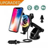 FAST CHARGE Qi-Enabled Wireless Charger 2 in 1 Car Air Vent Holder