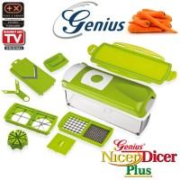 Genius Nicer Dicer Plus Original - Alat Pemotong/Pengupas Serbaguna