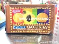 Nissin WALENS CHOCO SOES 100g | Kue Sus Kering Coklat Cokelat Promo