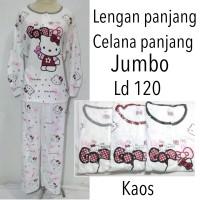 harga Piyama baju tidur dewasa wanita lengan panjang jumbo Tokopedia.com