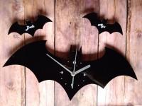 Jam Dinding Akrilik Batman Dengan Angka dan Nama