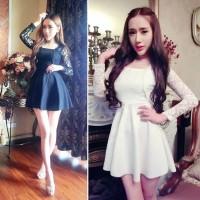 harga Jes-sb0873 mini dress sexy import korea-party dress brokat-baju pesta Tokopedia.com