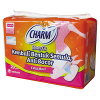 CHARM PEMBALUT EXTRA MAXI NON WING 20'S