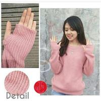 CAQ FJ - Roundhand Sweater Navy,pink,maroon