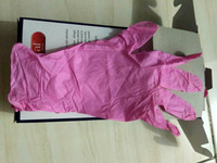 glove nitrile handseal pink sarung tangan nitrile pink handscoon pink