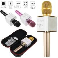 MIC Q9 WIRELESS BLUETOOTH KAROKE PLAYER MICROPHONE SPEAKER KTV USB