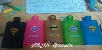 Memo Bottle - Botol Gepeng karakter Super Hero 380ml B-07-1