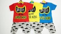 Baju Setelan Anak Bayi Laki-Laki / Setelan Bayi Cowok Superhero Batman