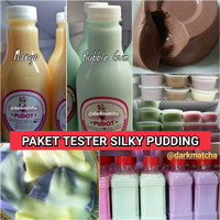 paket tester silky pudding pudot snack puddo pudding sutera topping