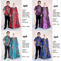 harga Baju couple batik sarimbit lb 2328 kemeja batik gamis longdress Tokopedia.com