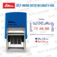 S-401D Lunas (Stempel Tanggalan Shiny Self-Inking)