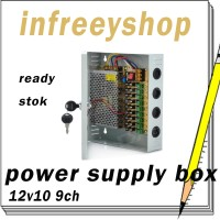 Power Supply Box 12v10a Cctv Adaptor