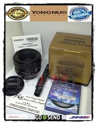 Lensa Fix Yongnuo YN 50MM F1.8N For Nikon Paket Lengkap Full Original.