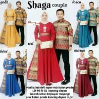 Baju Gamis Couple - Baju Batik Couple - Gamis Payung Shaga