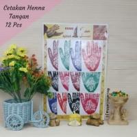 Cetakan Henna Tangan (12 pcs)/Henna Tangan Arab India/Haji Umroh