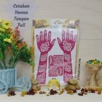 Cetakan Henna Hena Tangan Full Oleh Oleh Haji dan Umroh