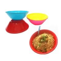 Mangkok Ayam Jago Plastik - Mangkok Makan Bulat