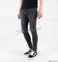 Celana jeans skinny ripped pria / denim super skiny robek cowok grey