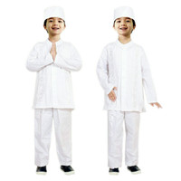 Baju Koko Anak Putih Fayrany FKP-005A Size 1 - 6