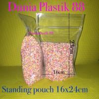 50pc 16x24CM STANDING POUCH plastik pp segel seal klip berdiri bening