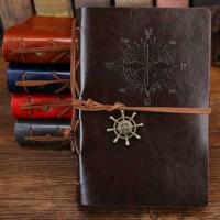 Buku Catatan Binder Kulit Retro Pirate Klasik / Notebook